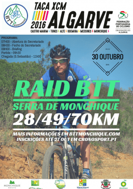 Raid BTT Serra de Monchique'16