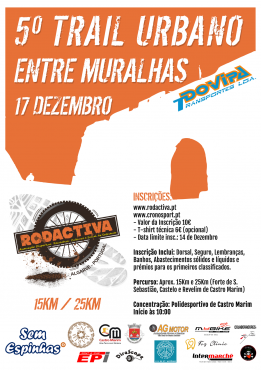 "5º Trail Urbano ""ENTRE MURALHAS"""